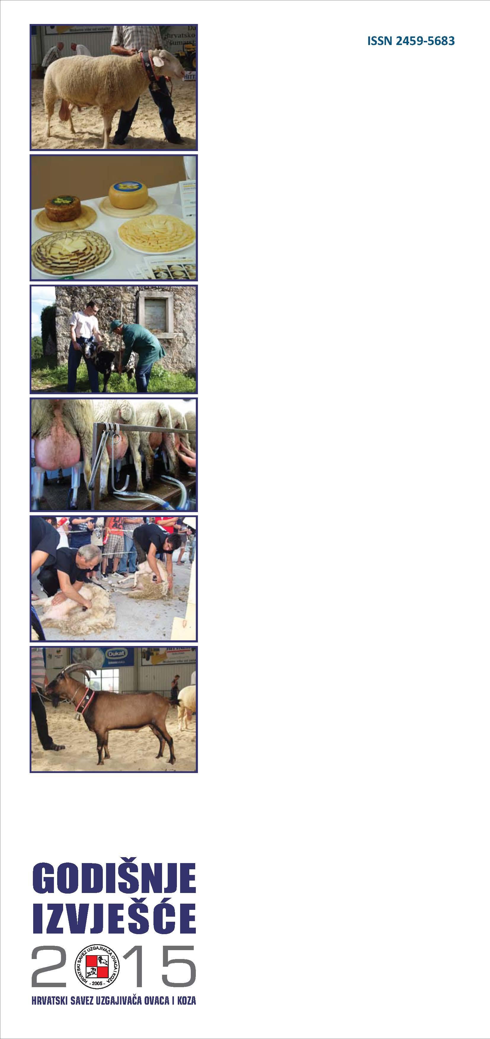 Godišnje izvješće Hrvatskog saveza uzgajivača ovaca i koza za 2015. godinu
