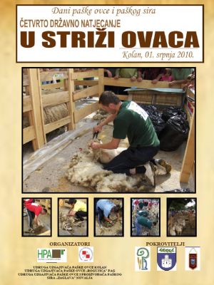 4. državno natjecanje u striži ovaca, Kolan 2010.